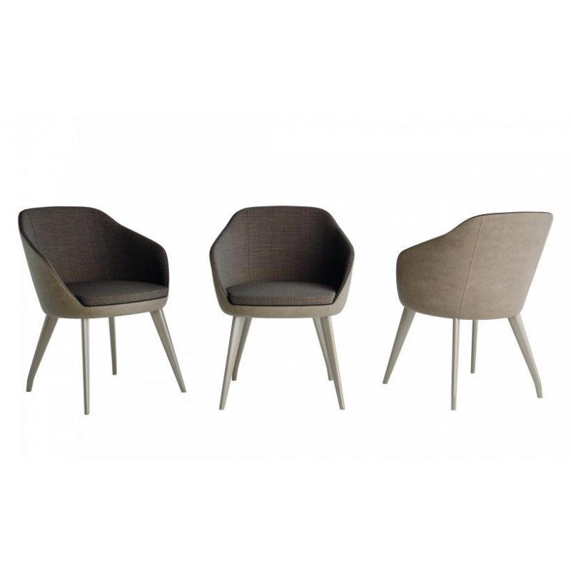 EXAGON  chair with armrests