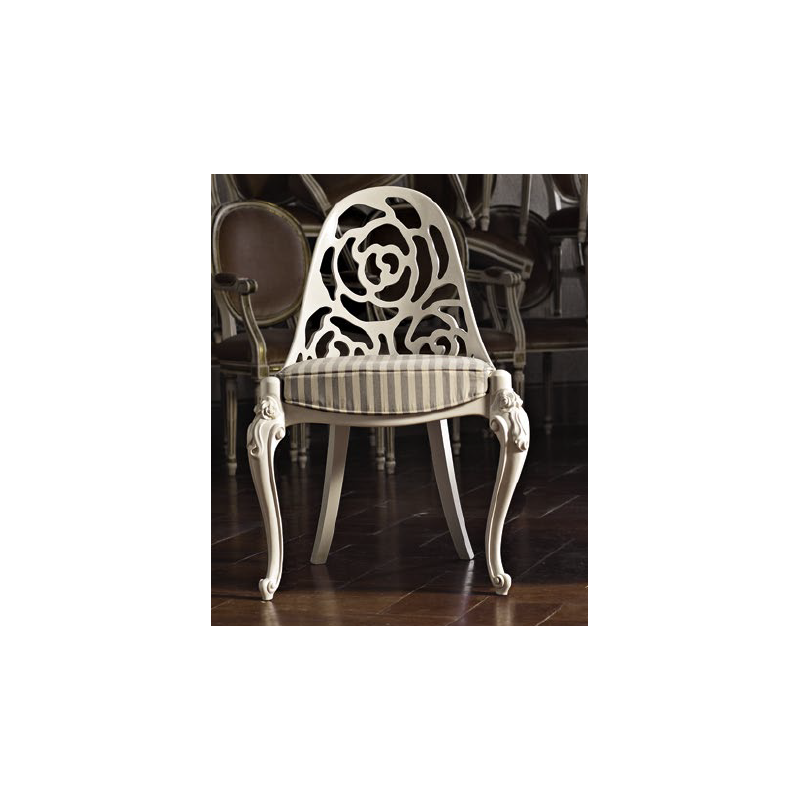 GIORGETTA carved back dining chair