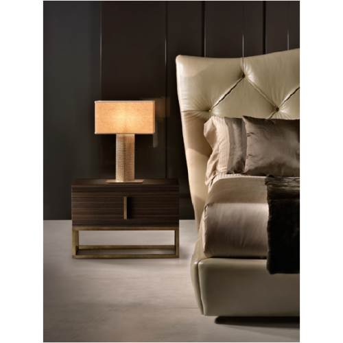 MILANO bedside table with marble top